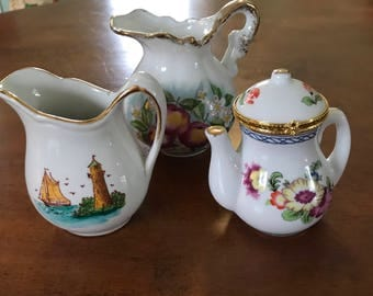 Porcelain Pitcher Set of Three