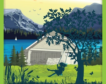 Vanilla Pine Cottage - Poster