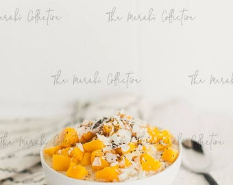 Mango Smoothie Bowl Stock Photo/ Images for health, wellness & fitness Bloggers, Coaches and Entrepreneurs