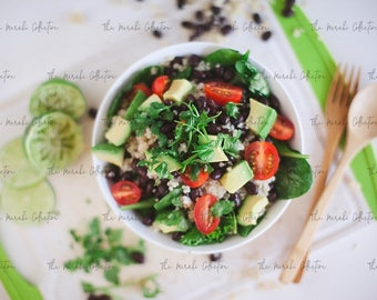 Black Bean Quinoa Bowl Stock Photo/ Images for health, wellness & fitness Bloggers, Coaches and Entrepreneurs