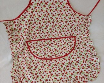 Strawberry Afternoon Tea Vingate Style Apron