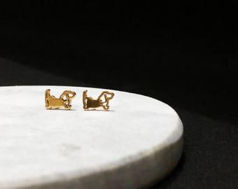 The Dachshund Wiener Studs Earrings