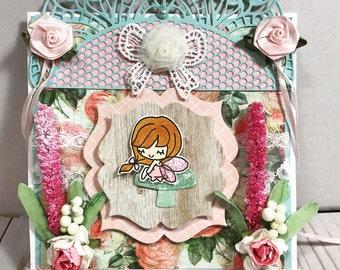 fairy easel handmade card