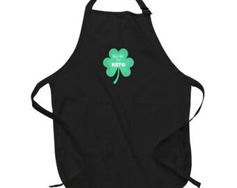 Kiss Me I'm Keto Funny St. Patrick's Day Apron