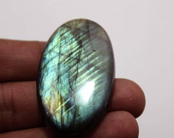 90.30Cts Natural Multi Flash Labradorite Oval  46X27X7 mm Labradorite loose Gemstone Amazing & Beautifull Labradorite Nice Flash AA-80