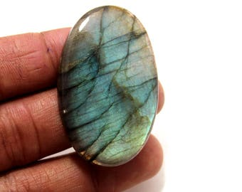 92.20Cts Natural Multi Flash Labradorite Oval  48X29X7 mm Labradorite Loose Gemstone Amazing & Beautifull Labradorite Nice Flash AB-05
