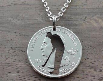 Coin jewelry, Quarter dollar USA-Golf player