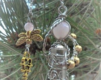 Rose Quartz Fairy Pendulum