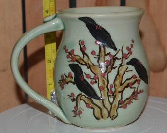 Raven Tree Porcelain Teal Coffee Cup