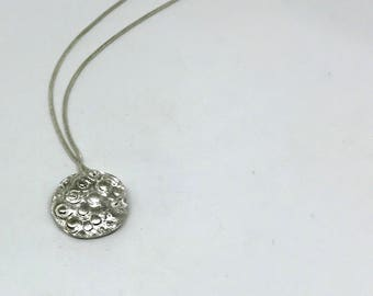 "Simple ""Sea Urchin"" silver necklace 925."