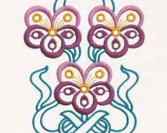 Machine embroidery designs Flower Pansy