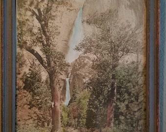 Vintage waterfall print