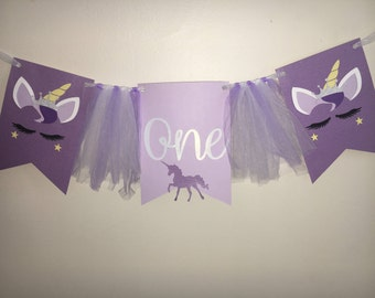 Unicorn highchair banner