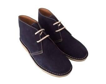 Desert NAVY suede boots