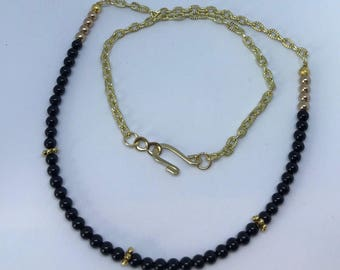 Black Agate Beads Necklace