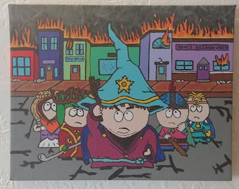 South Park Stick of Truth Painting - 8x10
