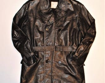 Aviakit leather coat