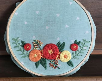 Customized Floral Hoop