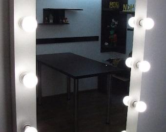 XL Hollywood mirror Makeup vanity mirror Xl Vanity mirror Hollywood lighting Vanity lights Vanity light Makeup brush  Bathroom mirror