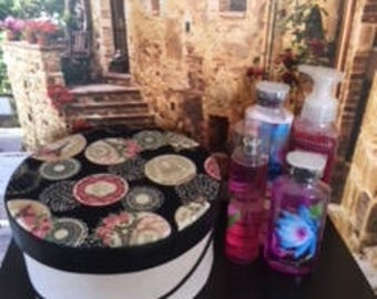 Hat Gift Boxes with Authentic Bath and Body Works Products