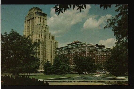 The Chase Park Plaza – St. Louis, Missouri – Vintage Bursheen Postcard