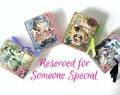 CUSTOM RESERVED Jane Austen Mini Book Favors | Miniature Books | Wedding Emma Persuasion Mansfield Park Pride Prejudice | Personalize 100