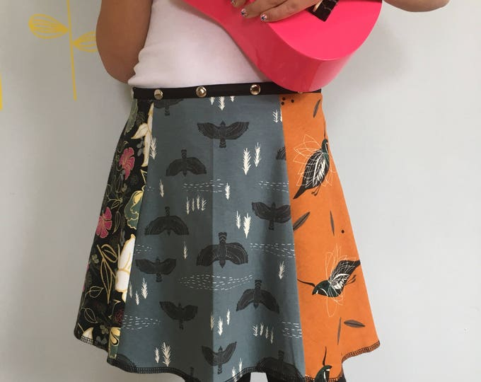 Child Skirt, Snap Around Adjustable Skirt, Erin MacLeod, bird skirt, flower skirt