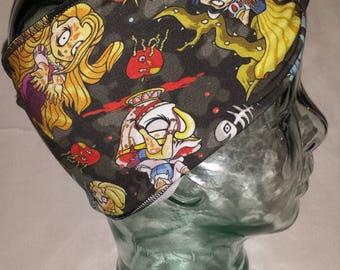 Zombie Princess Custom Print Cotton/Lycra Stretch Knit Scrunchy Wide Headband