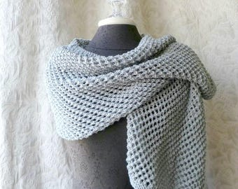 The Matinee Wrap - Luxury Shawl in Dove Gray