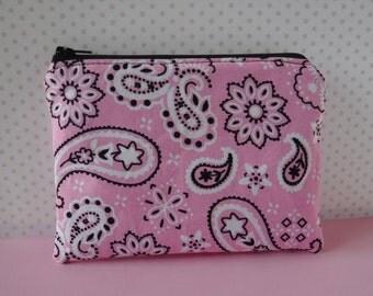 Bandanna - Zippered Pouch Bag - Tampon Holder - Zippered Pouch - Tampon Case - Toiletry Bag - Women Toiletry Bag - Sanitary Pad Holder