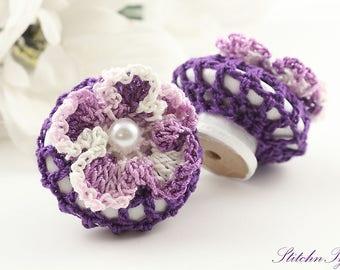 Purple Daisy Drawer Pull, Decorative Home Improvement Drawer Knobs