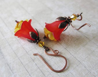 First Bloom - Lightweight Lucite Floral Lily Earrings
