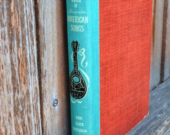 Fireside Book of Favorite American Songs - 1952 - Vintage Illustrated Music Book - FREE SHIPPING