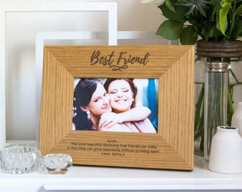 Best Friend Picture Frame Personalized Gifts for Friends