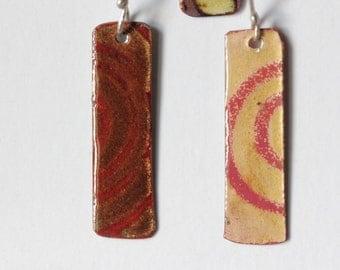 Transparent Enamel Earrings