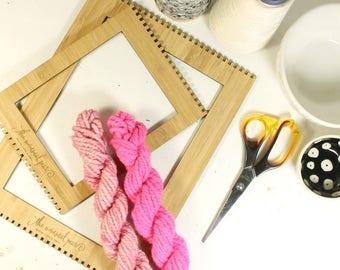 love bug ... handspun yarn set, weaving creative yarn bundle, hand spun, hand dyed yarn, handspun art yarn