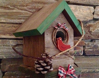 Bird House Rustic Country Christmas 346