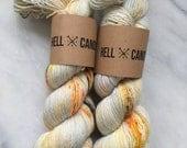 Embers - hand dyed by Hellcandy superwash merino fingering single weight yarn