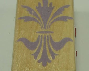Filigree Fleur-De-Lis Wood Mounted Rubber Stamp By Hero Arts C4054