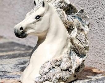 Sublime Equine Horse Sculpture, Ceramic Horse Sculpture, horse Art