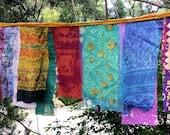 Glitzy Gypsy Celebration Flag Garland Hippie Prayer Flags Garden Flags 3 to 8 feet long