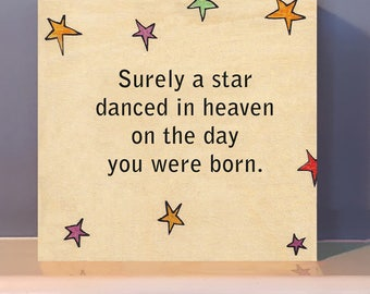 Surely A Star Dance in Heaven inspirational quote. Baby Shower.  Positive inspiration.  Inspirational baby gift.