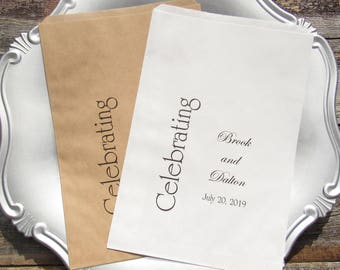 Wedding Favor Bags | Favor Bags | Wedding Candy Bags | Candy Favor Bags | Wedding Candy Buffet | Printed Paper Bags | Wedding Bags