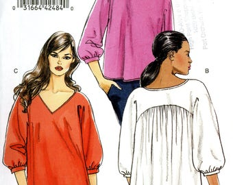 Vogue V8514 Easy Knit Tops Blouse Shirt Kimono Sleeves Size 18 20 22 24 Uncut Sewing Pattern 2008