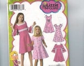 Kids Sewing Pattern Simplicity 3902 Lizzie McGuire Girls Princess Seam A Line Dress Flared Seams Size 3 4 5 6 Breast 22 23 24 25 UNCUT  99