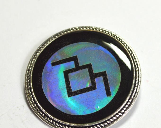 Twin Peaks White Lodge Symbol Holographic Holo Resin Brooch