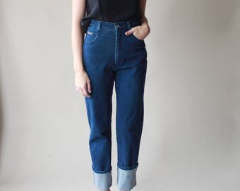 high waist jeans | indigo high waisted stretch jeans, size small
