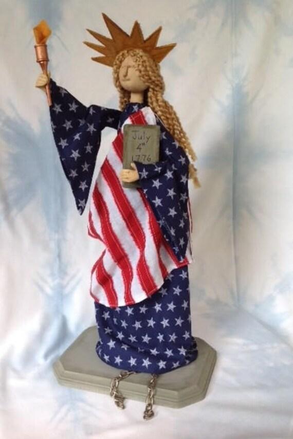 Mailed Cloth Doll Pattern Americana Statue of Liberty Art Doll