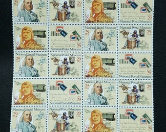 Vintage unused postage stamps - National Postal Museum, 29 cent stamps, a lot of twenty (20) stamps