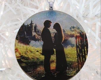 Princess Bride glass and glitter ornament
